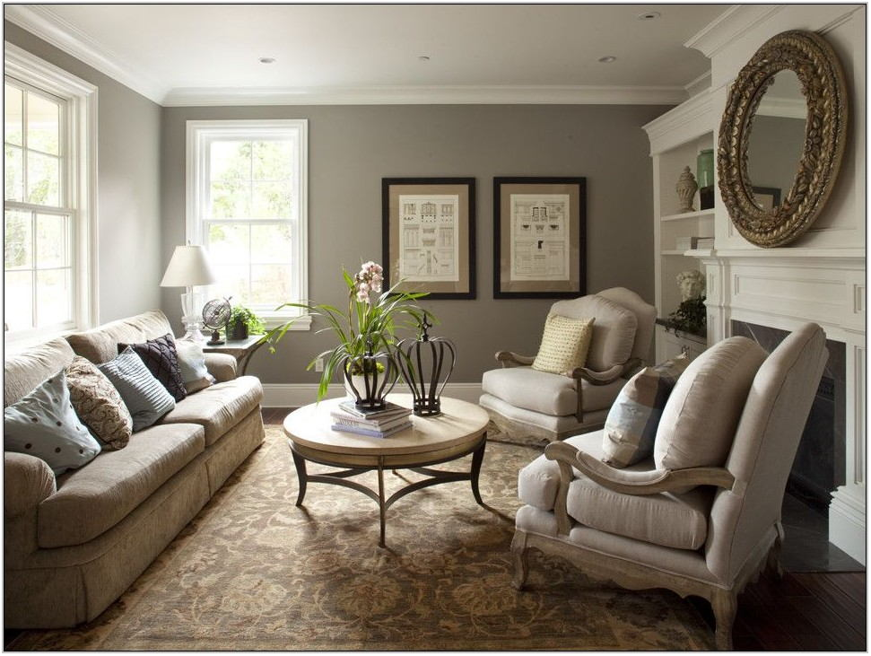 Grey Blue Gold Living Room