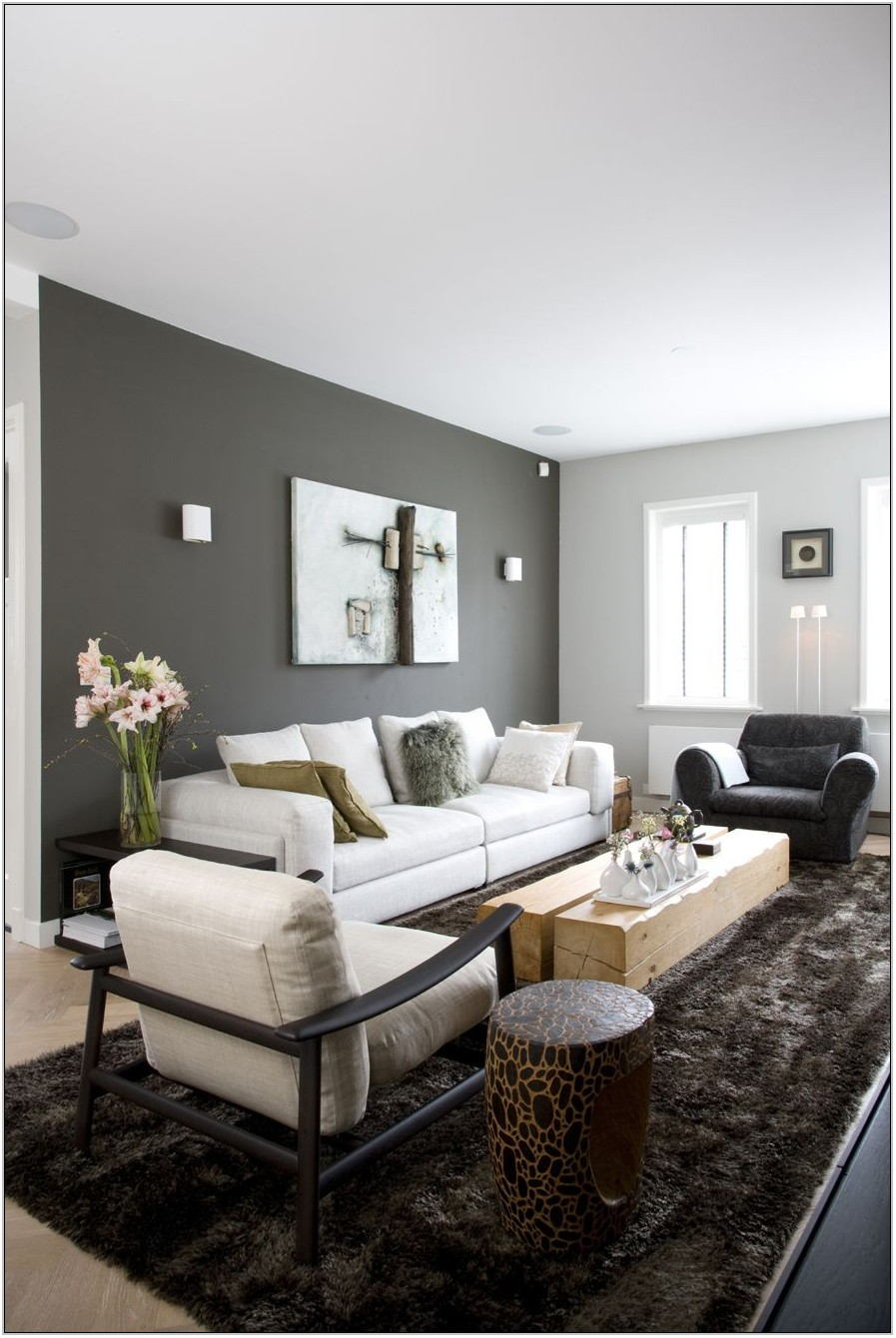 Grey Wall Paint Living Room