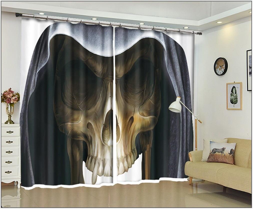 Halloween Living Room Curtains