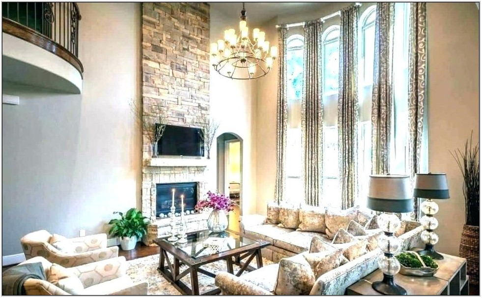 High Ceiling Living Room Chandelier