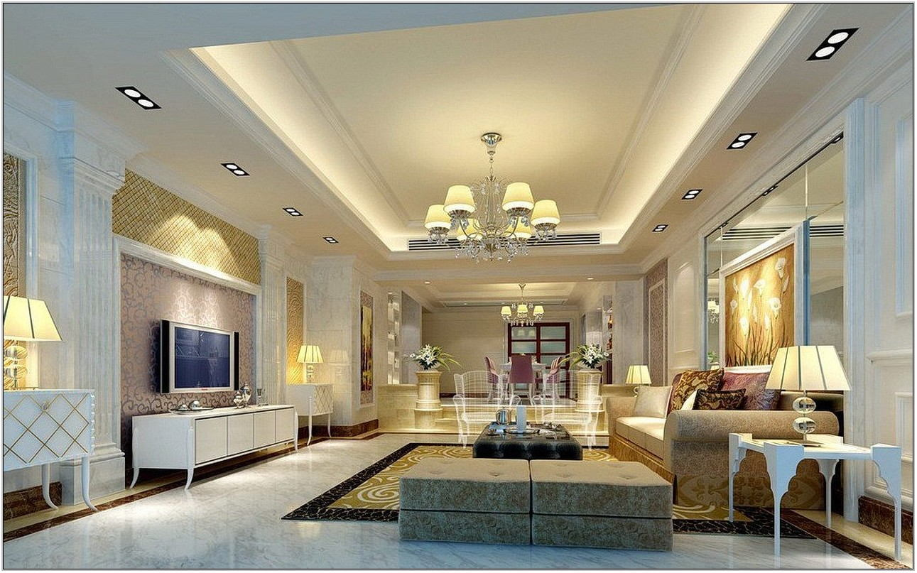 High Ceiling Living Room Lighting