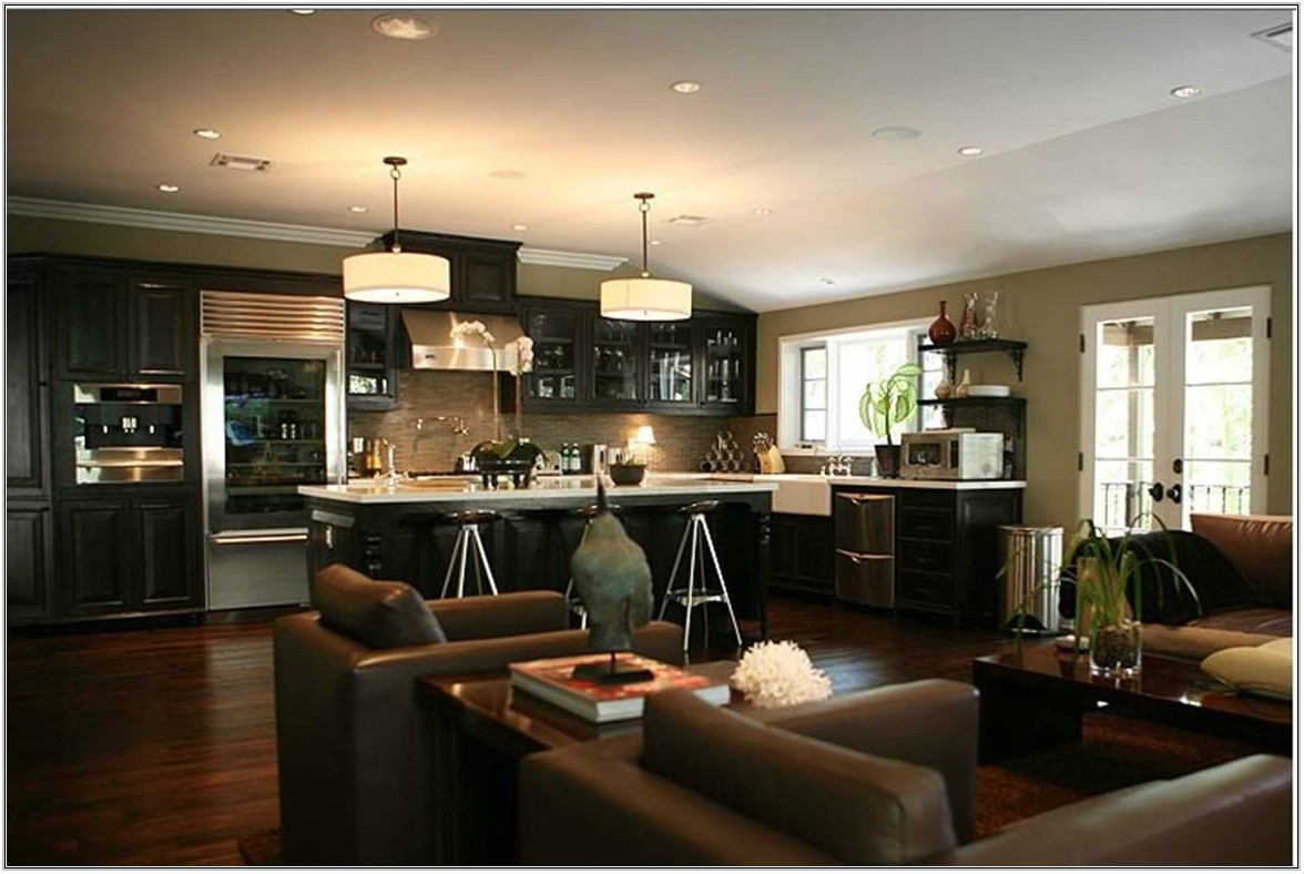 Kitchen Living Room Combo Design