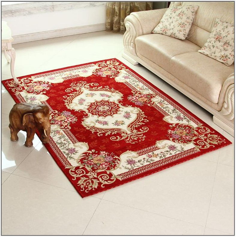 Large Red Rugs For Living Room