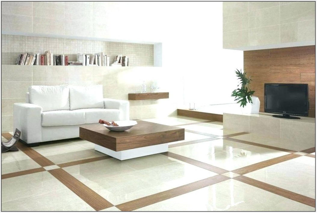 Large White Tiles For Living Room