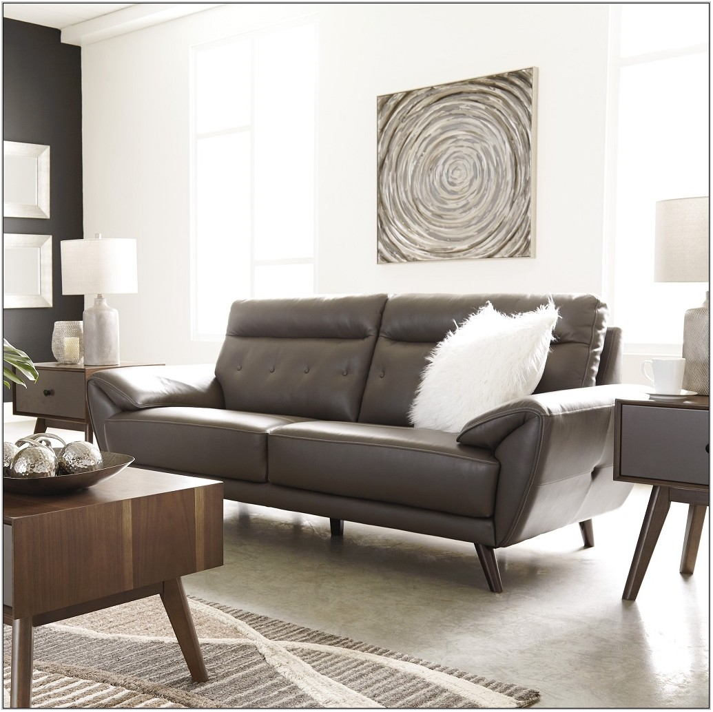 Leather And Fabric Living Room Furniture