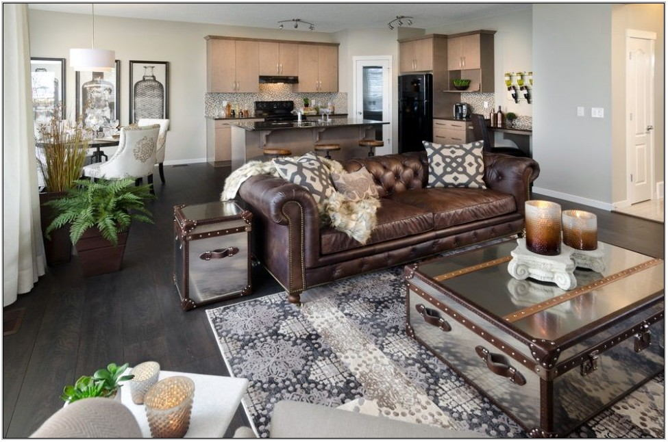 Leather Couch Living Room Decor