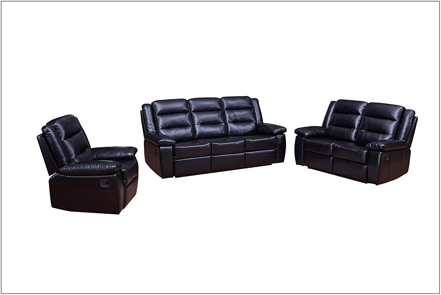 Leather Living Room Set Recliner