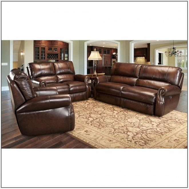 Leather Power Reclining Living Room Set