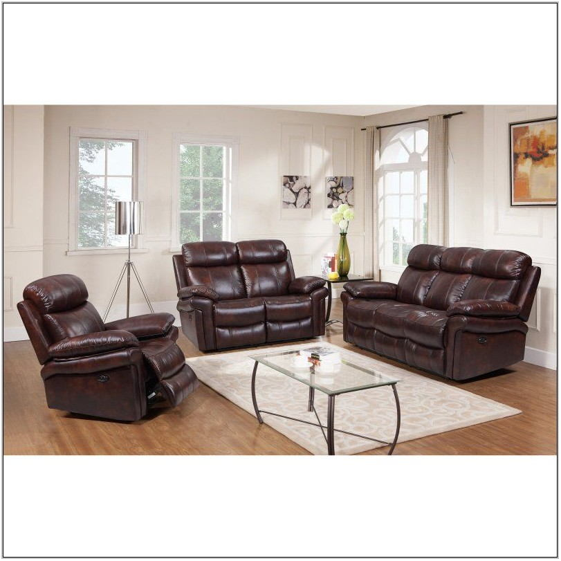 Leather Power Reclining Living Room Sets