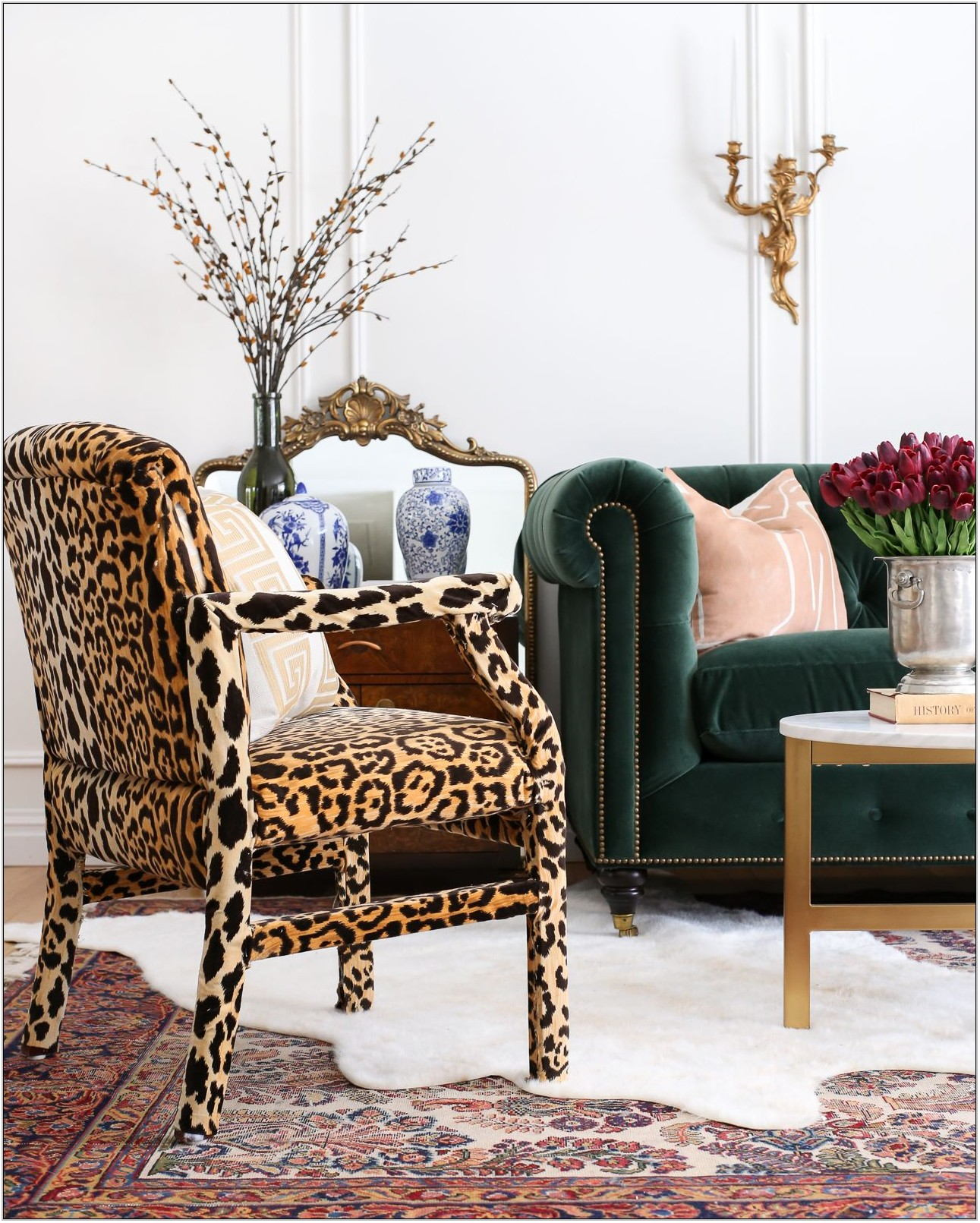 Leopard Living Room Chair