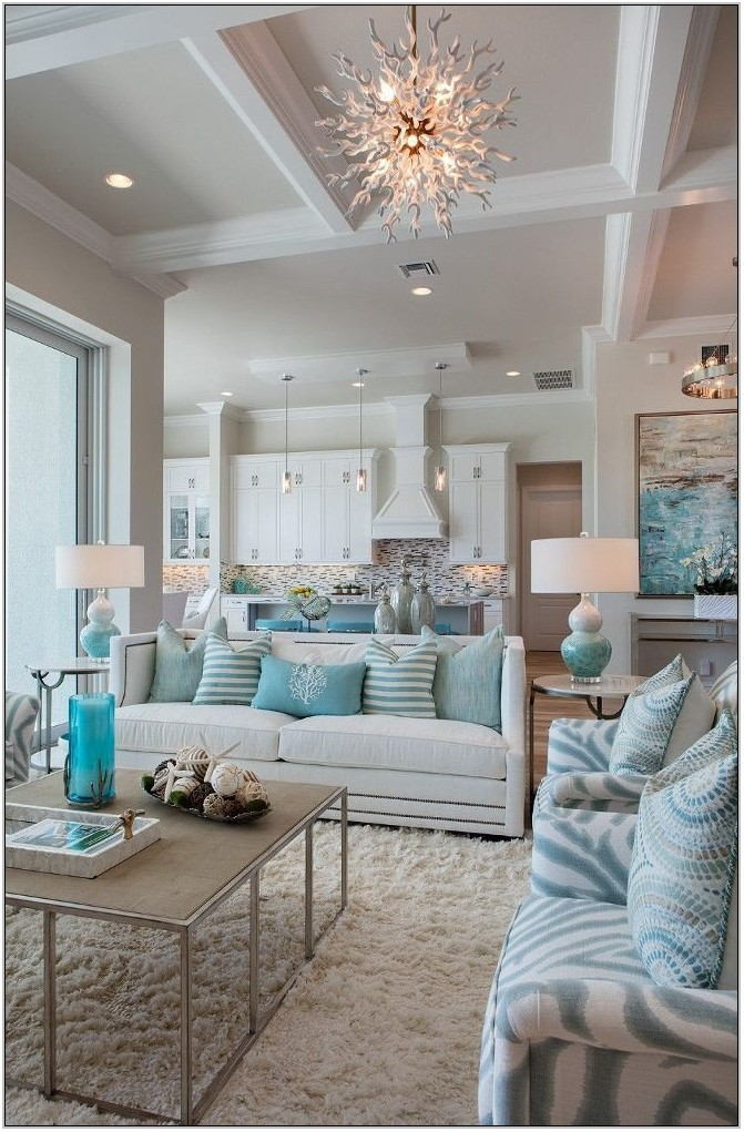 Light Blue And Gray Living Room