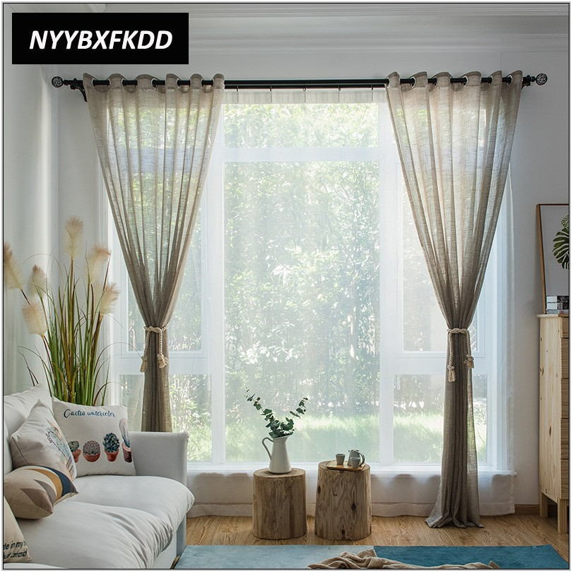 Light Brown Curtains For Living Room