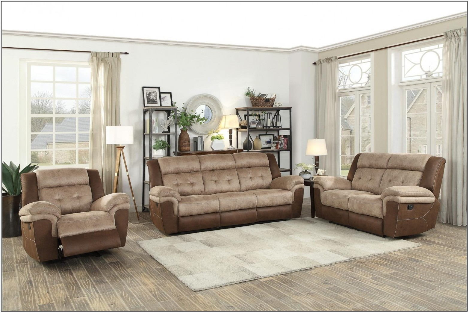 Light Brown Living Room Set