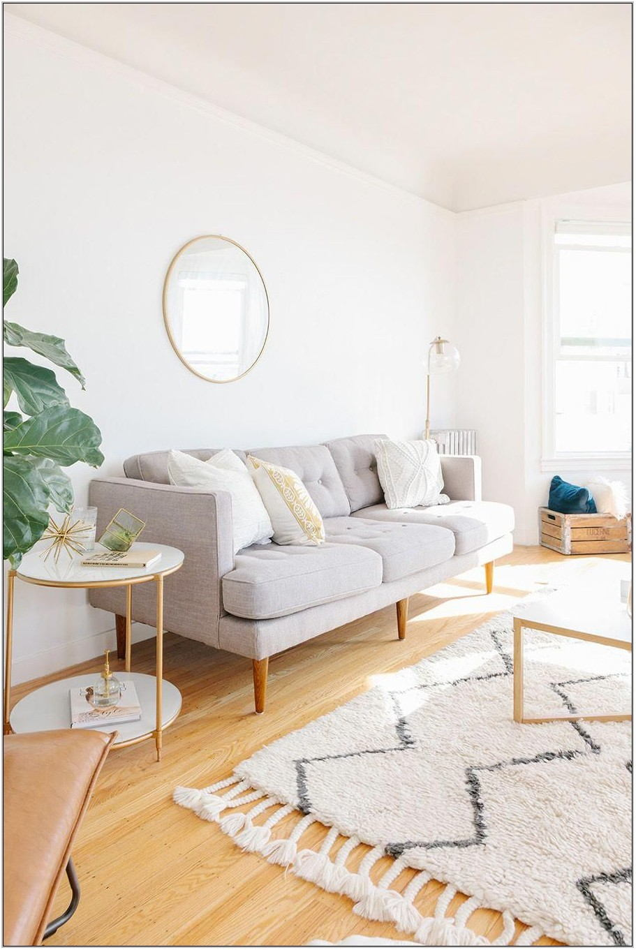Light Gray Living Room Rug