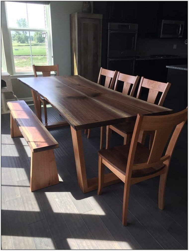 Live Edge Dining Room Table Set