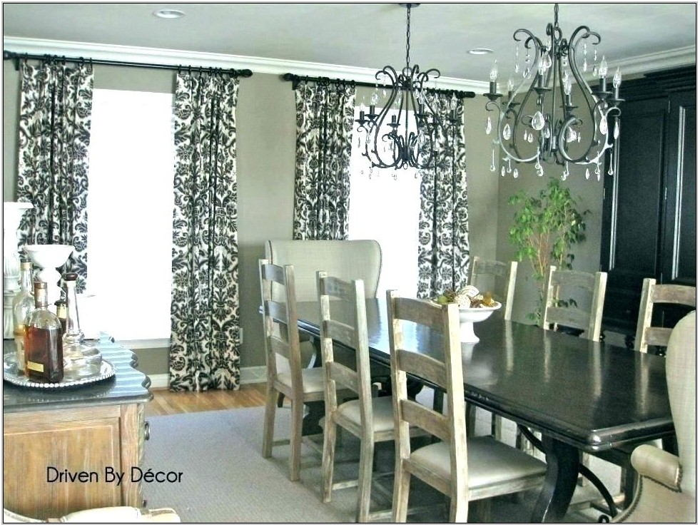 Living Room And Dining Room Curtains