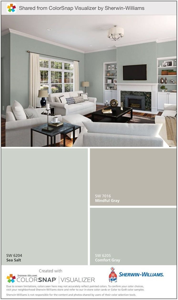 Living Room And Kitchen Color Schemes