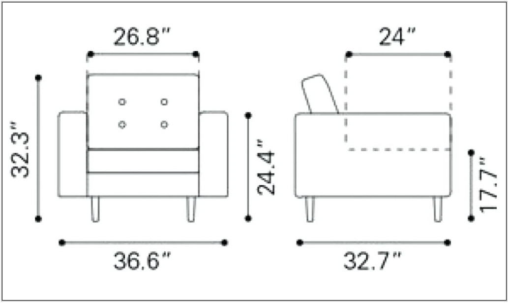 Living Room Chair Dimensions