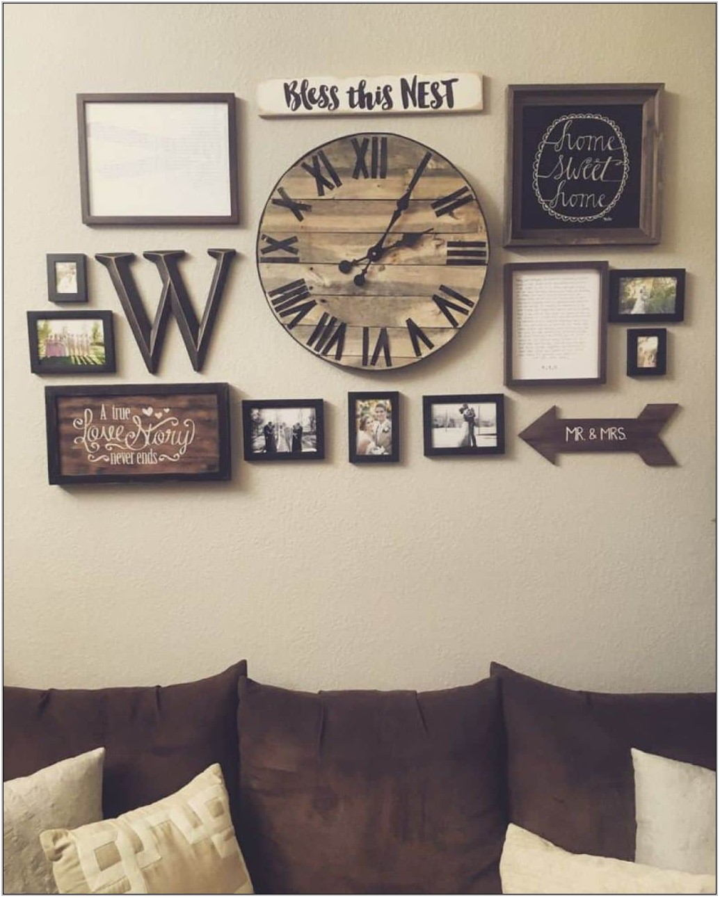 Living Room Clock Decor