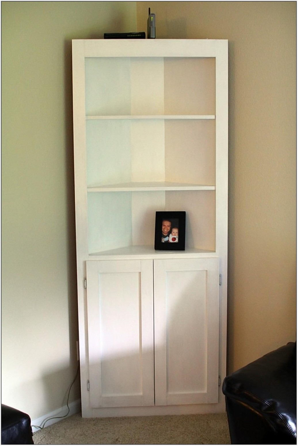 Living Room Corner Shelf Unit