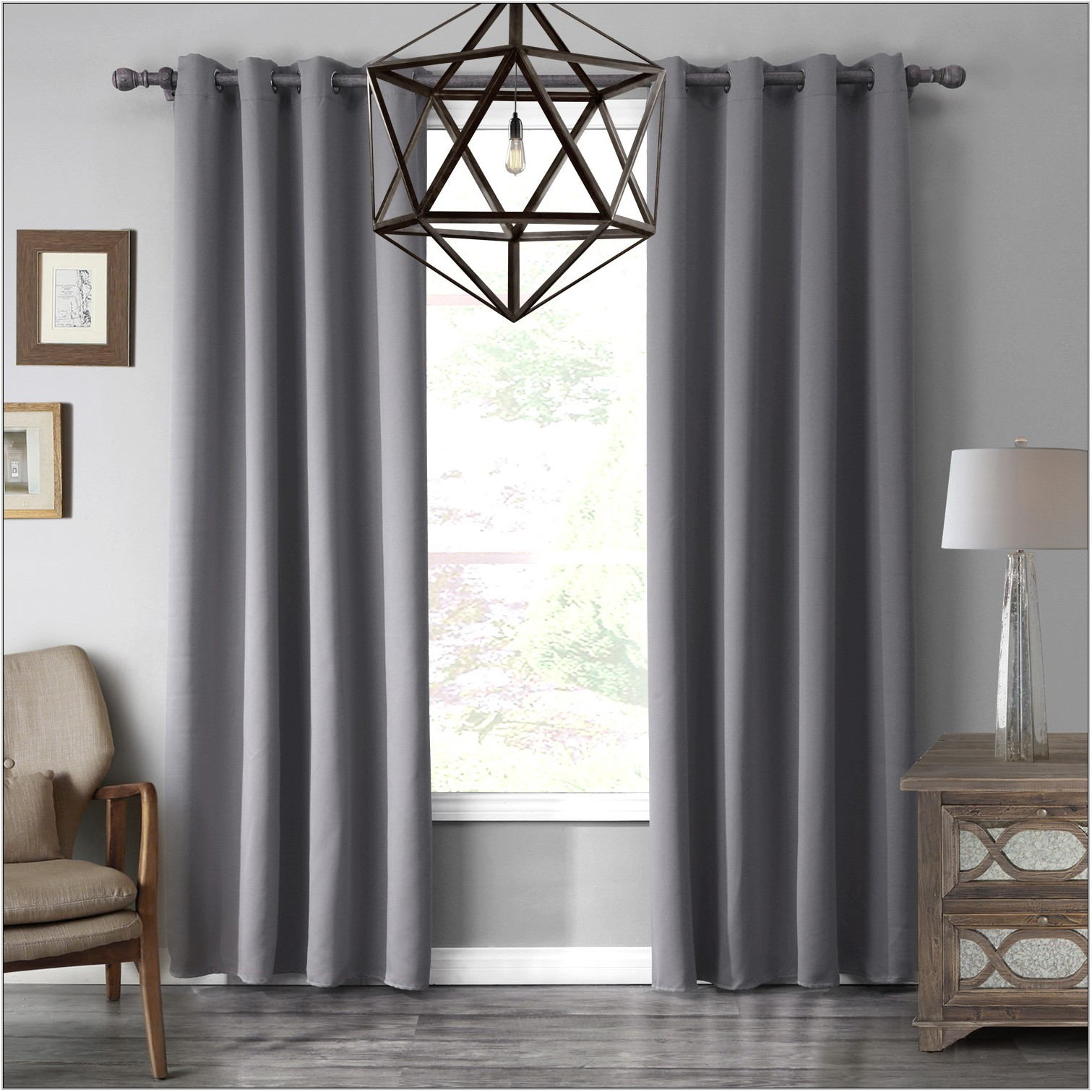 Living Room Curtains Gray