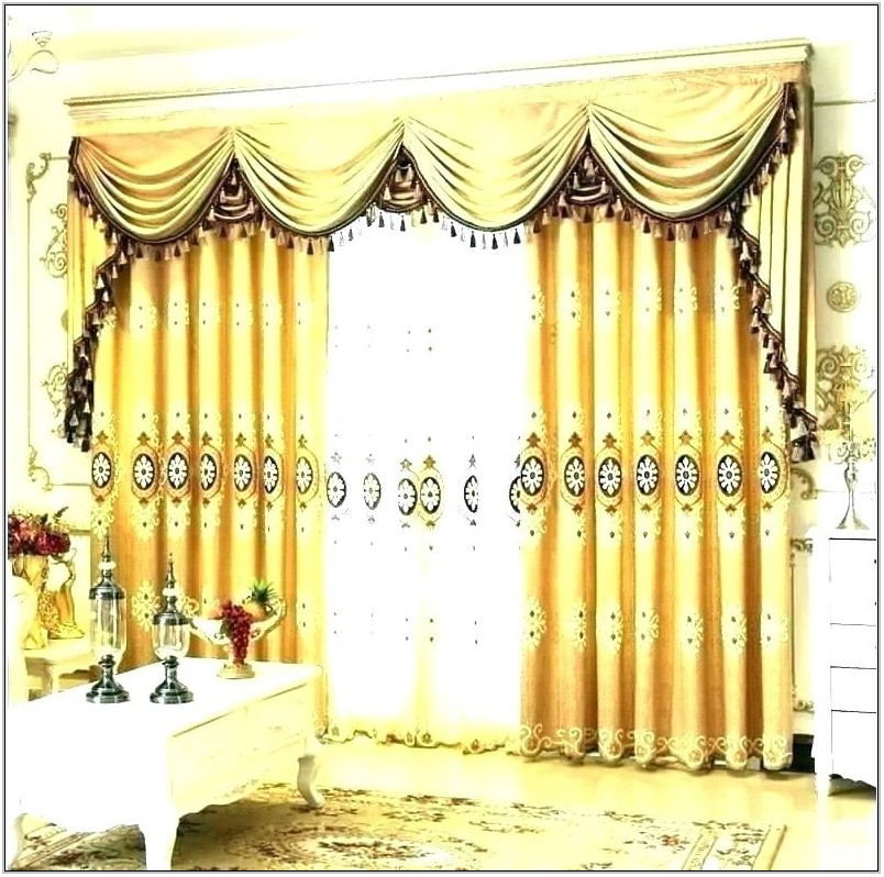 Living Room Curtains With Matching Valance