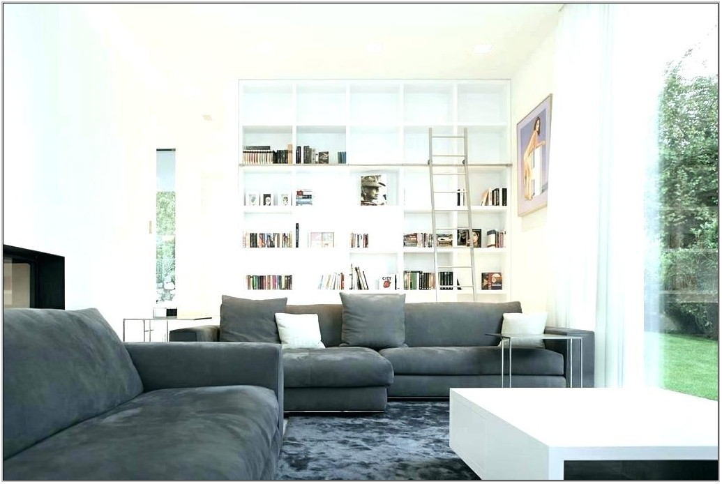 Living Room Decor With Gray Sofa