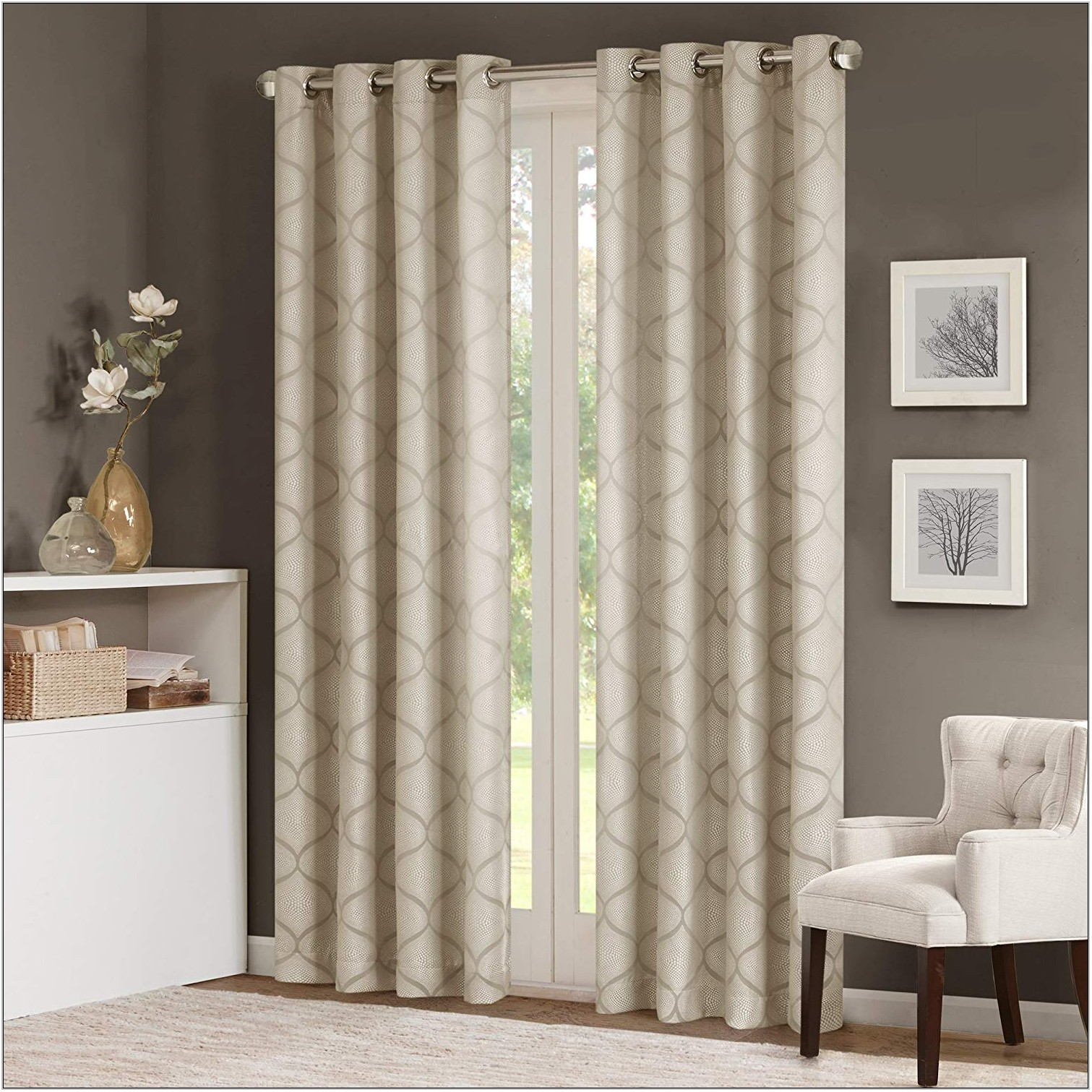 Living Room Grommet Curtains