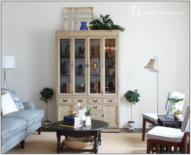 Living Room Hutch Decor