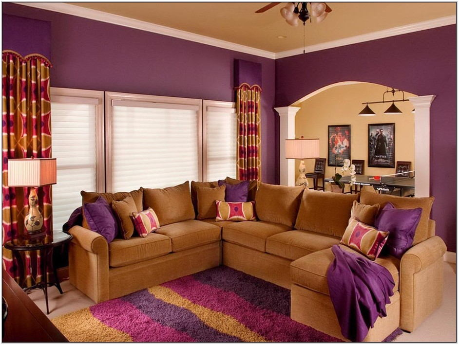 Living Room Purple Colour Schemes