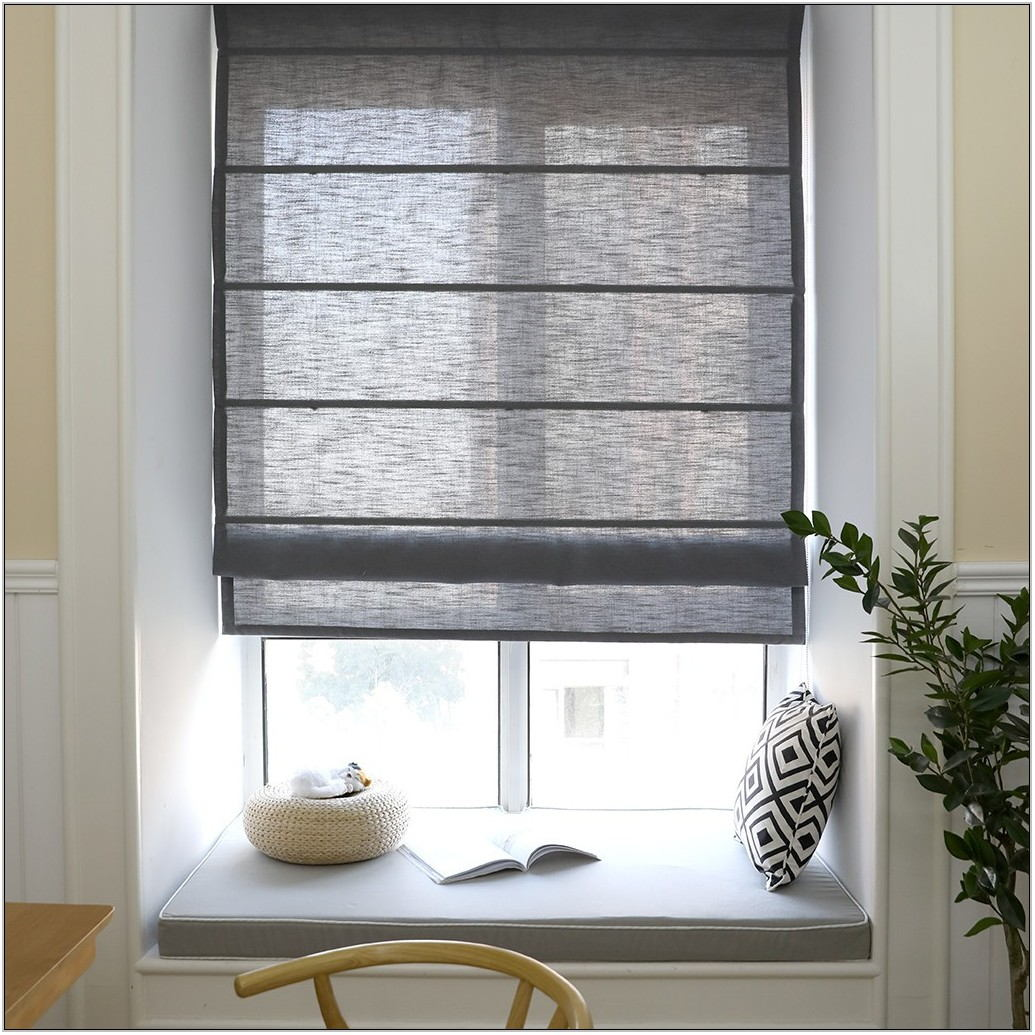Living Room Roman Blinds