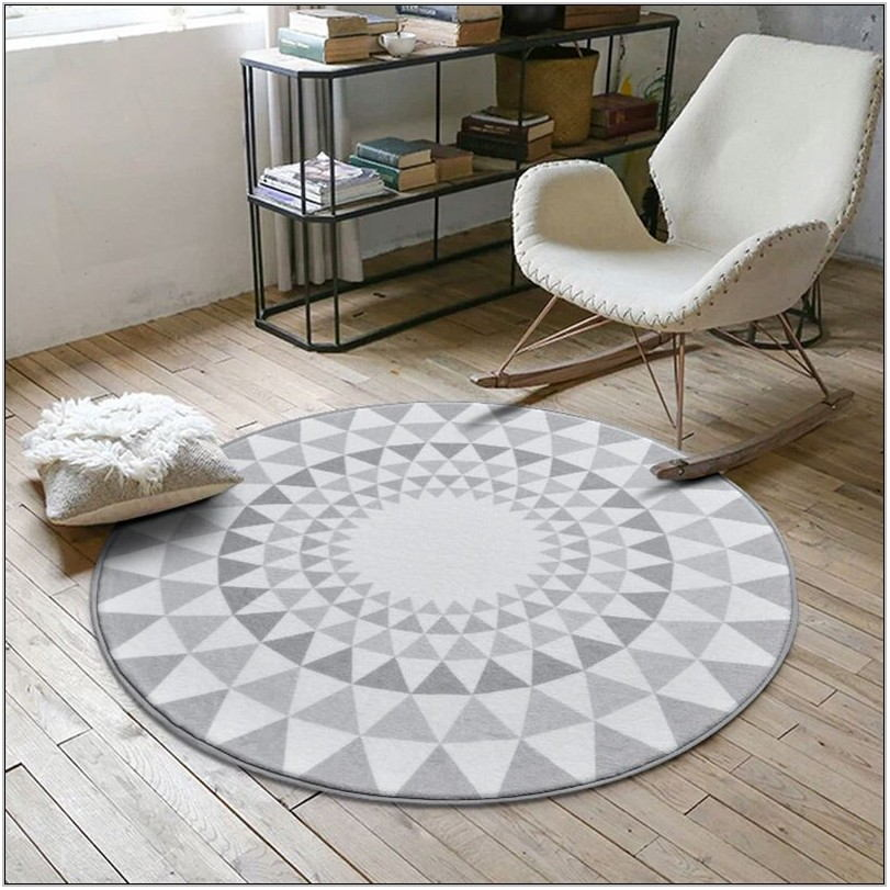Living Room Rug Gray