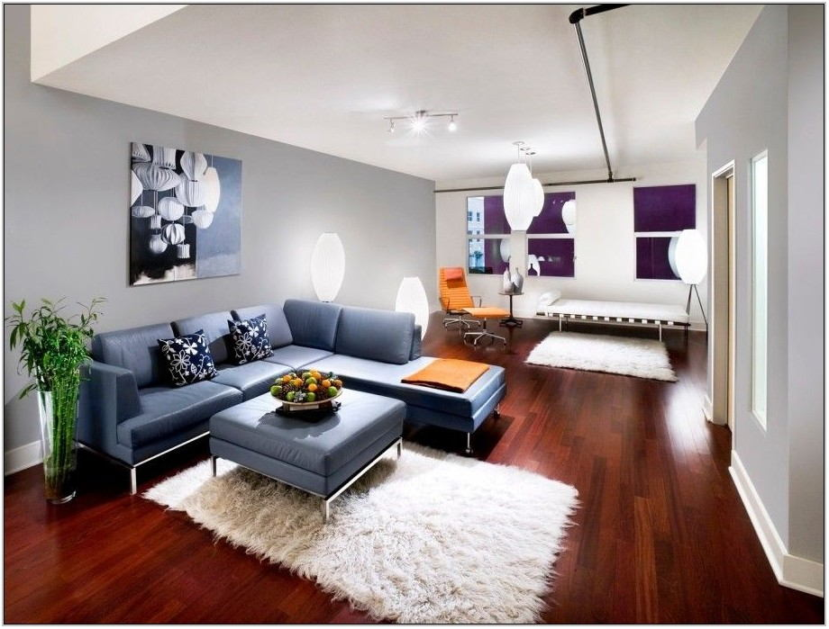 Living Room Rug Placement With Sectional