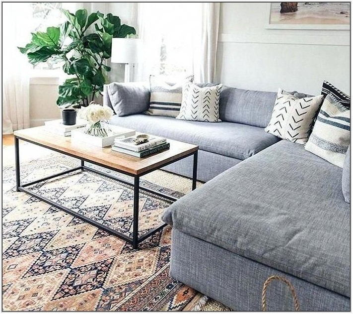 Living Room Rug With Grey Couch