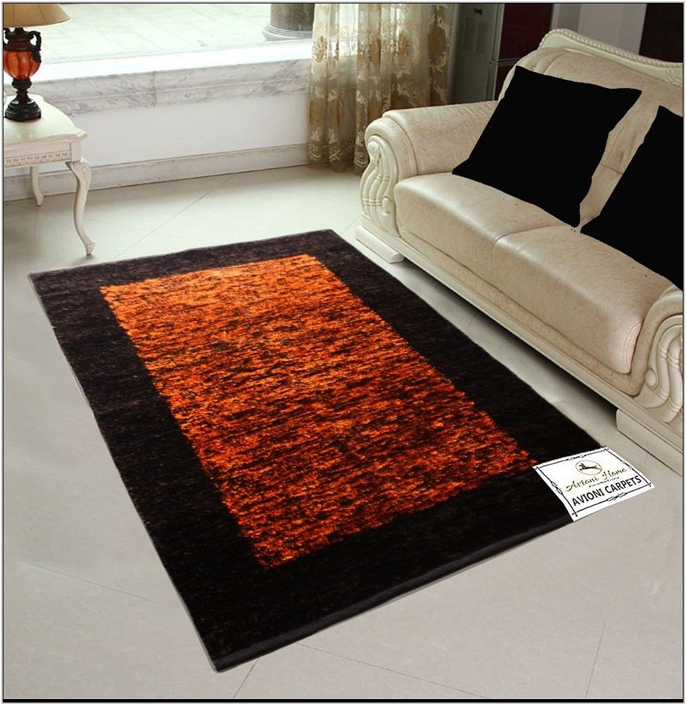 Living Room Rugs Orange