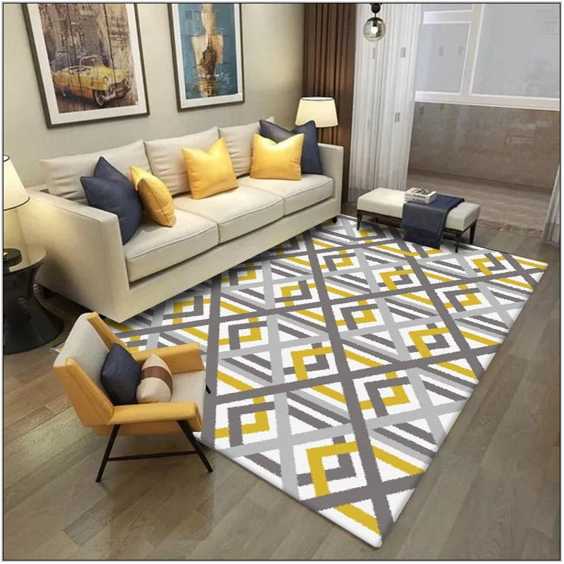 Living Room Rugs Yellow