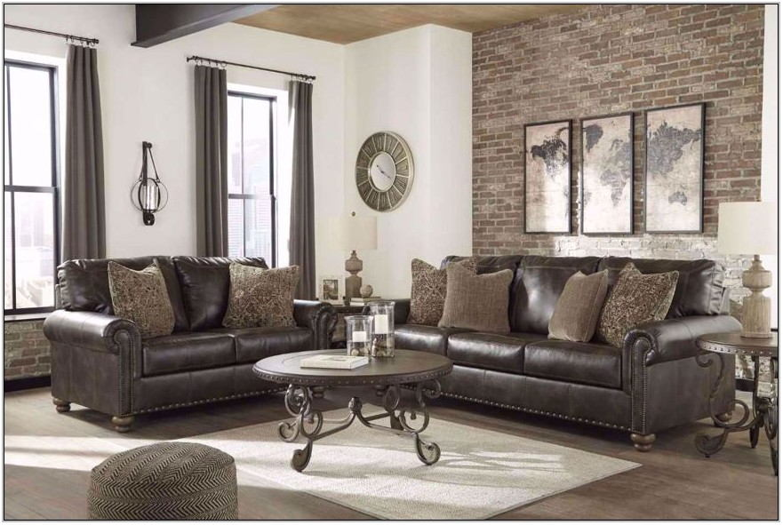 Living Room Sofa Set Leather
