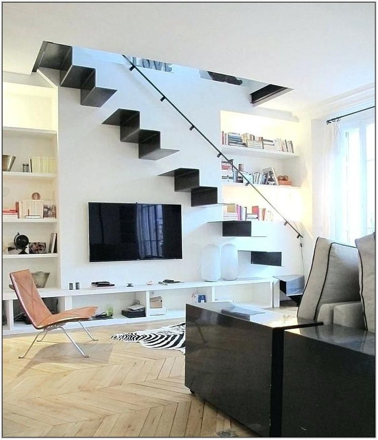 Living Room Stairs Design