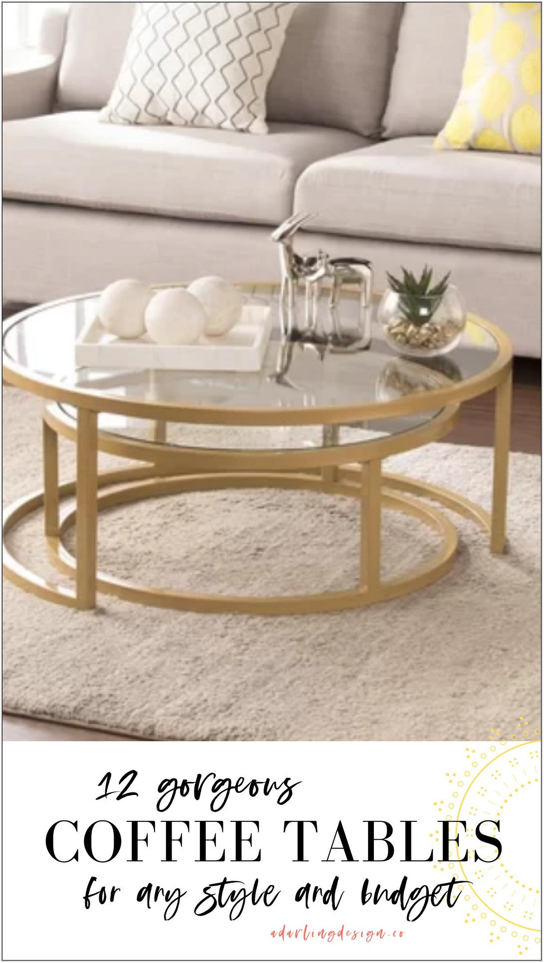 Living Room Tables For Small Spaces