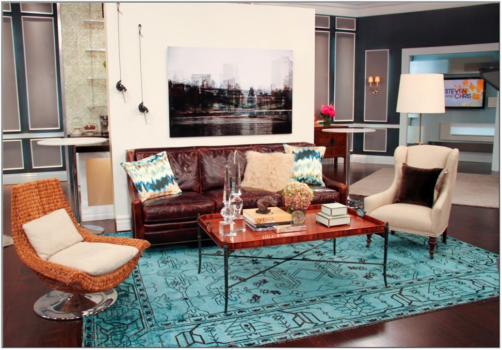 Living Room Turquoise Rug