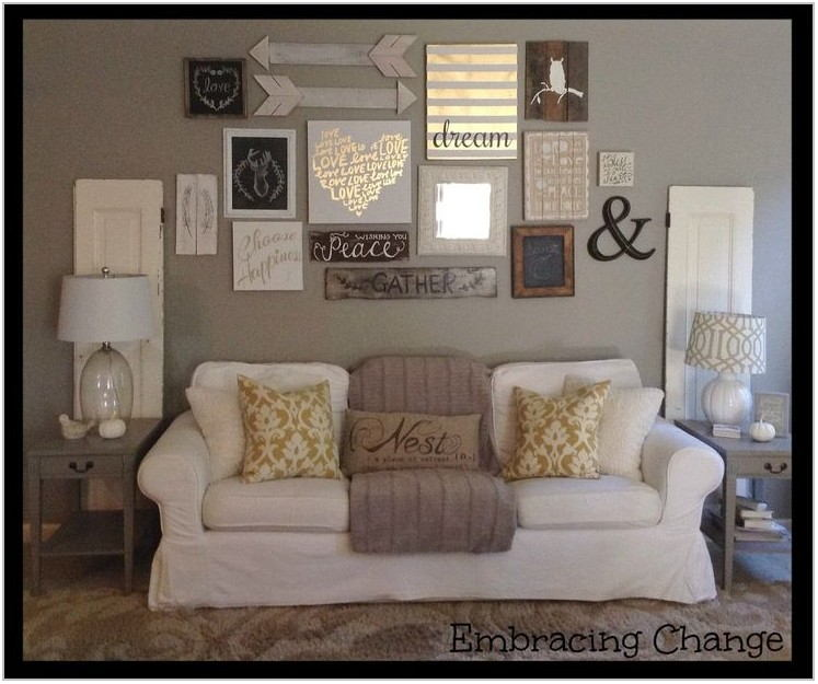 Living Room Wall Decorating Ideas Pinterest