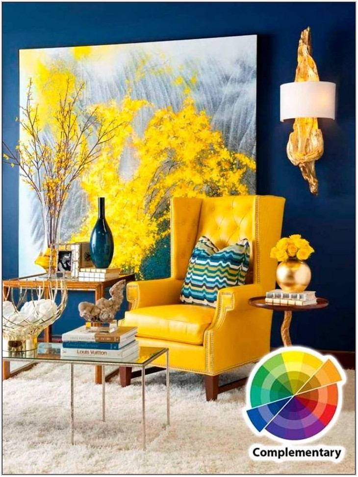 Living Room Yellow Color Scheme