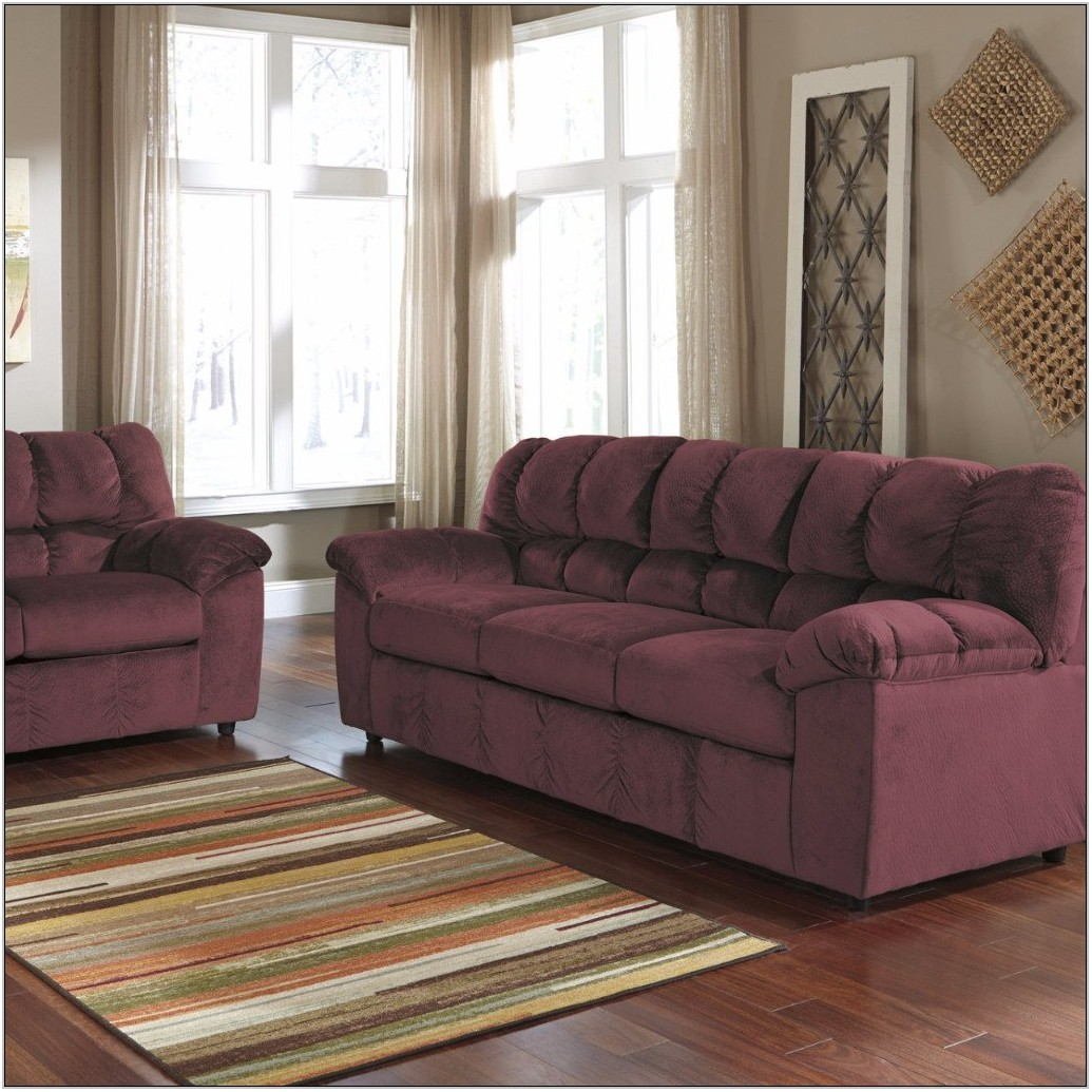 Maroon Living Room Set