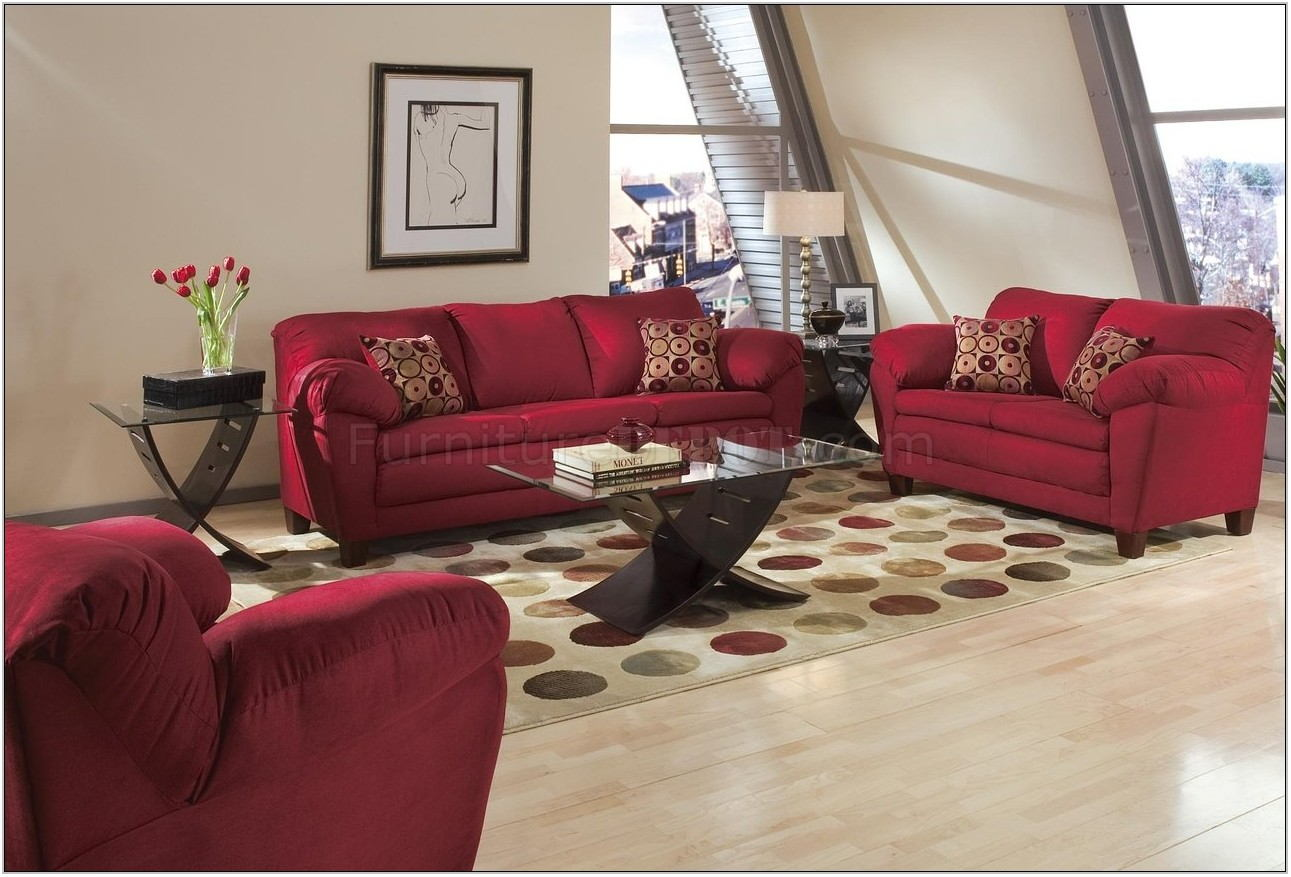 Maroon Living Room Sets