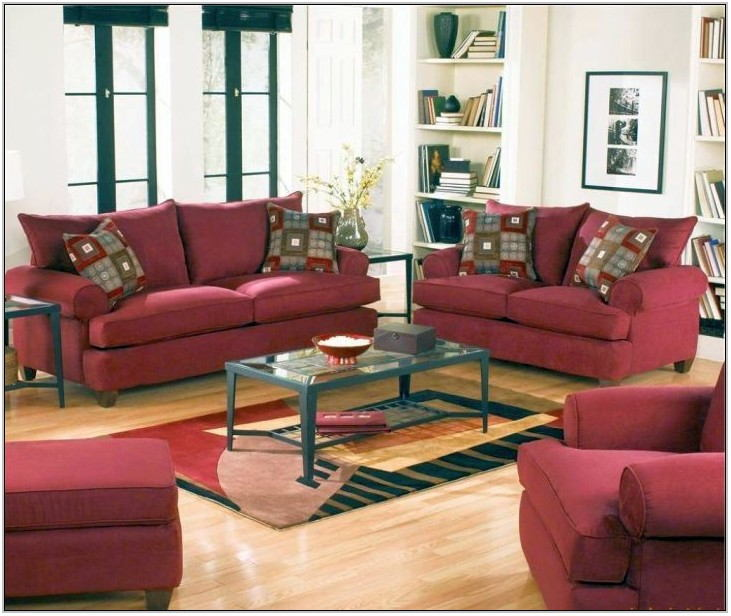 Maroon Sofa Living Room