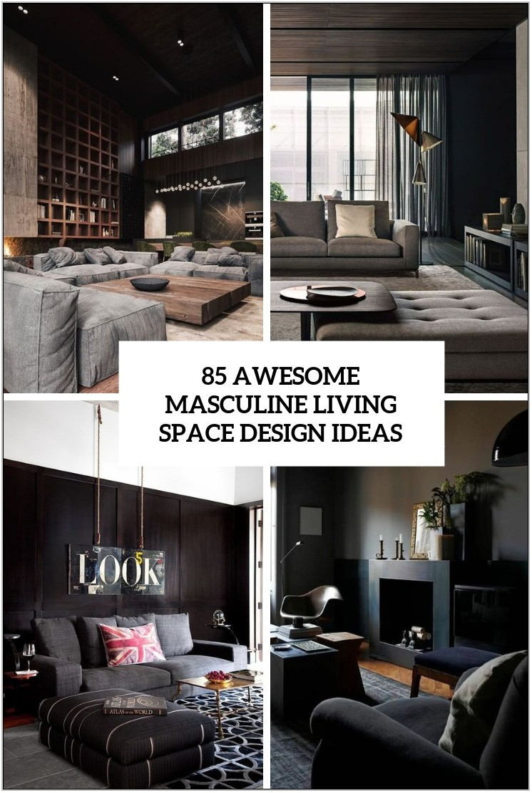 Masculine Living Room Ideas