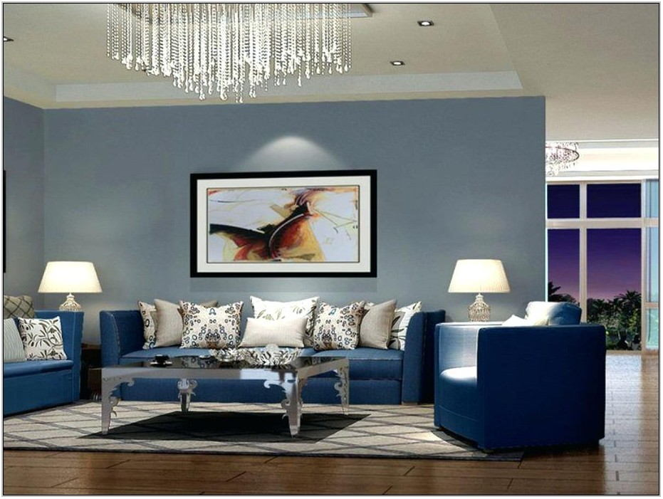 Modern Blue Sofa Living Room