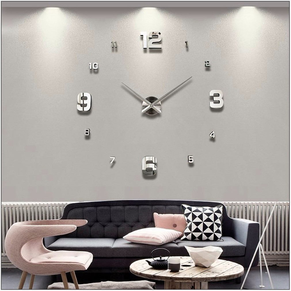 Modern Clock For Living Room