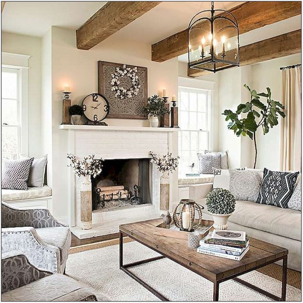 Modern Farmhouse Living Room Chandelier