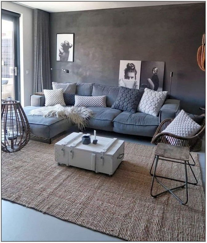 Modern Grey Couch Living Room